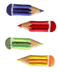 Colored Pencils embroidery design