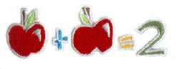 Apple Arithmatic embroidery design