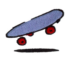 Skateboard embroidery design