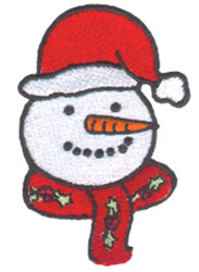 Snowman Face embroidery design