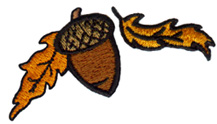 Acorn & Leaves embroidery design