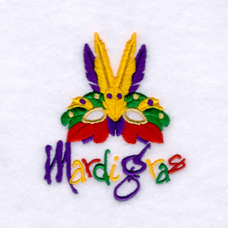 applique, machine applique, Mardi Gras, Embroidery