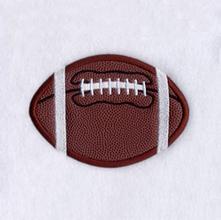 Football Applique (Satin) embroidery design