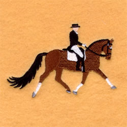 Dressage Horse embroidery design