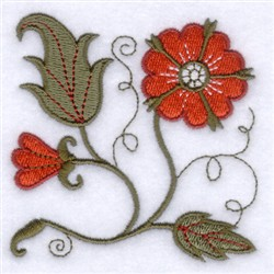 Colorful Jacobean Peacock Embroidery Machine Designs to Download