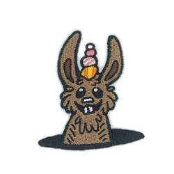 Popup Bunny embroidery design