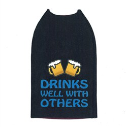 Drinks Well With Others Koozie embroidery design
