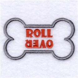 Roll Over embroidery design