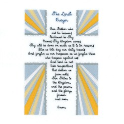 The Lords Prayer embroidery design