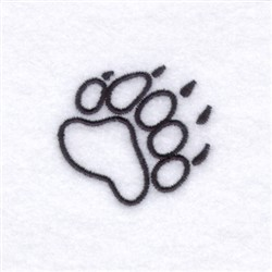 Bearcat Claw embroidery design