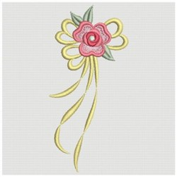 Sweet Heirloom Embroidery Design Rose Ribbon Border 381