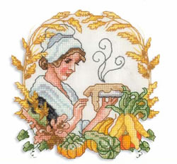 Pilgrim Lady embroidery design