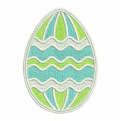 Easter Egg Waves embroidery design