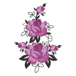 Wind Bell Embroidery Embroidery Design: Elegant Roses ...
