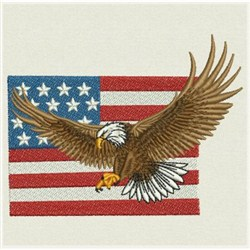 Wind Bell Embroidery Embroidery Design American Eagle