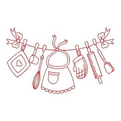 Wind Bell Embroidery Embroidery Design: Redwork Kitchen 2 ...