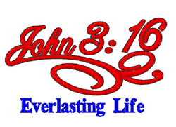 John 3:16 embroidery design