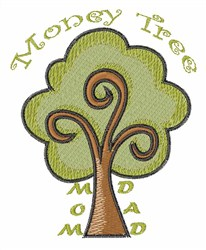 Money Tree embroidery design