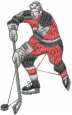 Ice Skater Hockey embroidery design