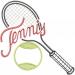 Tennis Equipment embroidery design