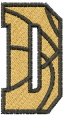 Basketball Letter D embroidery design