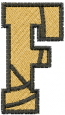 Basketball Letter F embroidery design