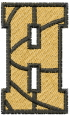 Basketball Letter H embroidery design