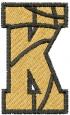 Basketball Letter K embroidery design