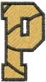 Basketball Letter P embroidery design