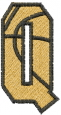 Basketball Letter Q embroidery design