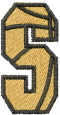 Basketball Letter S embroidery design
