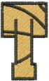 Basketball Letter T embroidery design