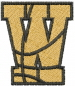 Basketball Letter W embroidery design