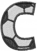 Soccerball  Letter C embroidery design