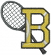 Tennis  Letter B embroidery design