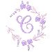 Floral Monogram C embroidery design
