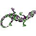 Lizard embroidery design