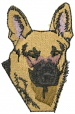 Canine Shepherd embroidery design