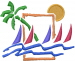 Beach Scene embroidery design