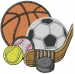 Sports Logo embroidery design