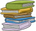 Books embroidery design