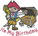 Birthday Pirate Kid embroidery design