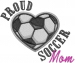 Proud Soccer Mom embroidery design