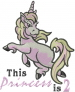 Princess Is 2 embroidery design