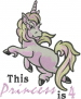 Princess Is 4 embroidery design