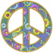 Floral Peace Sign embroidery design