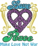 Love Peace embroidery design