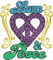 Love & Peace embroidery design