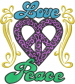 Peace Love embroidery design