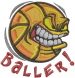 Basketball  Baller embroidery design